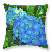 Blue Hydrangea In Bellingrath Gardens In Mobile, Alabama2 Throw Pillow