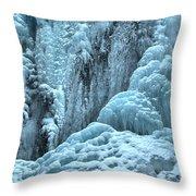 Blue Ice Flows At Tangle Falls Throw Pillow