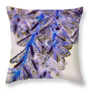 Blue Ice.. Throw Pillow