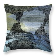 Blue Ice Pond 2  Throw Pillow