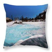 Blue Ice Sheet - Lake Hiayaha Throw Pillow