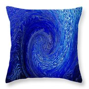 Blue Ice Twirl-1 Throw Pillow