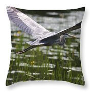 Blue In Low Glide Throw Pillow