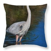 Blue In May Throw Pillow