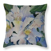 Blue In The Morning Throw Pillow
