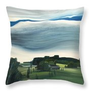 Blue In The Sky Throw Pillow