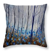 Blue In The Wood Throw Pillow