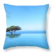 Blue Infinity Throw Pillow