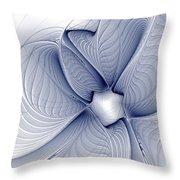 Blue Invert Throw Pillow