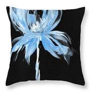 Blue Iris Bulb Throw Pillow