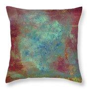 Blue Iron Texture Painting Throw Pillow