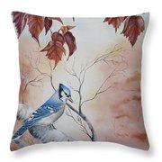 Blue Jay - Geai Bleu Throw Pillow