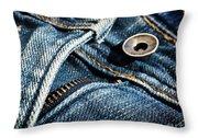 Blue Jeans Throw Pillow