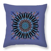 Blue Jewel Starlet Throw Pillow
