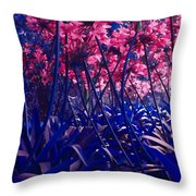 Blue Jungle Throw Pillow