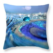 Blue Karma Throw Pillow