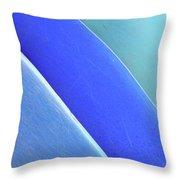 Blue Kayaks Throw Pillow by Brandon Tabiolo - Printscapes