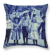Blue Kids Throw Pillow
