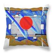 Blue Kimono Throw Pillow