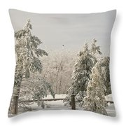 Blue Knob Winter Throw Pillow