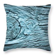 Blue Knot Throw Pillow