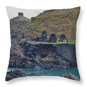 Blue Lagoon 2 Abereiddy Wales Throw Pillow