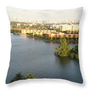 Blue Lagoon Miami Throw Pillow