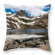 Blue Lake Colorado Throw Pillow