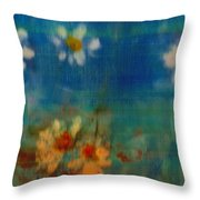 Blue Landscape In Oil Throw Pillow