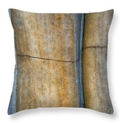 Blue Lines Abstract Throw Pillow