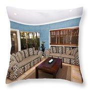 Blue Living Room Throw Pillow