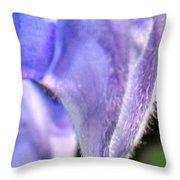 Blue Lupine Flower - 4 Of 5 Shots Throw Pillow