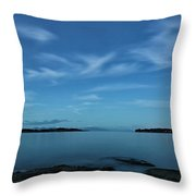 Blue Madrona Throw Pillow