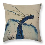 Blue Magic Throw Pillow by Ginny Youngblood