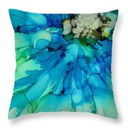 Blue Magnificence Throw Pillow