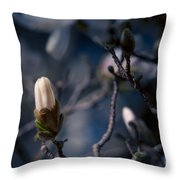 Blue Magnolia Throw Pillow