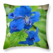 Blue Majestu Throw Pillow