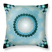 Blue Mandala 5 Throw Pillow