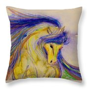 Blue Mane And Tail Throw Pillow