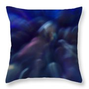 Blue Marbles Throw Pillow
