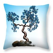 Blue Math  Tree 2 Throw Pillow
