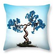 Blue Math  Tree Throw Pillow