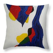 Blue Meanies Throw Pillow