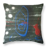 Blue Meets Red Throw Pillow