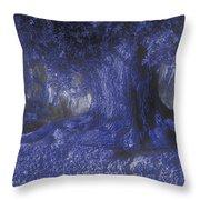Blue Memories Throw Pillow