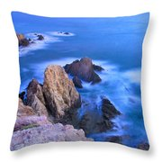 Blue Mermaid Reef At Sunset Throw Pillow