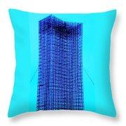 Blue Metal Mesh Throw Pillow