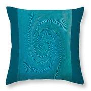 Blue Metal Spca Throw Pillow