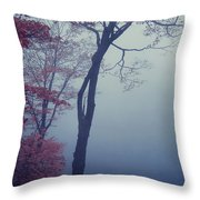 Blue Mist Throw Pillow