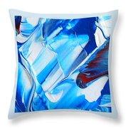 blue mode I Throw Pillow